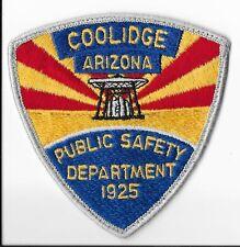 Coolidge Public Safety Department, Arizona Shoulder Patch