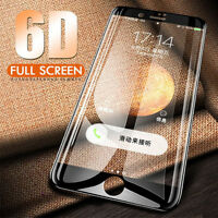 6D Full Coverage Screen Tempered Glass Protector Film For iPhone X 6/6P/7/8 Plus