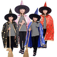 Halloween Cosplay Stars Cloak Hat Set Performance Clothes Witch Cloaks And Cap