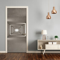 3D Wall Sticker Decoration Self Adhesive Door Wall Mural Modern Concrete tunnel