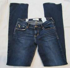 Abercrombie kids girls 16 boot cut dark wash denim jeans stretch MINT