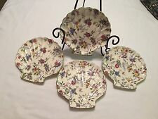 Vintage Tominaga Decorative Plates (4) Seashell Pattern