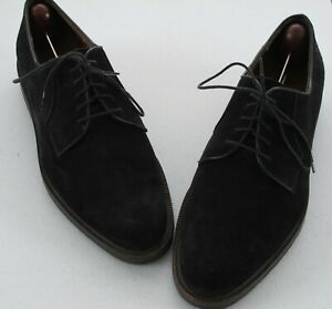 Salvatore Ferragamo Sport Suede Shoes 9.5B Narrow Dark Brown Plain Toe Oxfords
