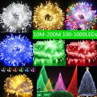 Fairy String Light Lamp 10-200M 100-1000 LED Christmas Wedding Xmas Party Decor