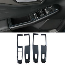 Accessories Carbon Door Window Lift Switch Trim for Ford Kuga Escape 2020-2021