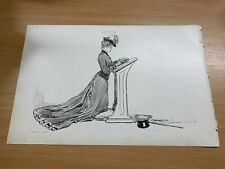 1902 CHARLES DANA GIBSON ANTIQUE LARGE DOUBLE-SIDED PRINT GIBSON GIRL #26