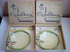 CROWN DEVON Cina-burro piatto PAT E COLTELLO - 2 Set Servizio da tavolo-Inghilterra