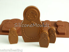 6+1 RUSSIAN DOLL Chocolate Silicone Mould Gift Jelly Candy Cake Mold Resin Wax