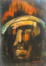 GIANDANTE X (Pescò Milano 1899-1984) VOLTO encausto su cartone cm35x50 anni '60