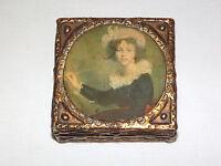VINTAGE 1800S VICTORIAN LADY WOOD BOX