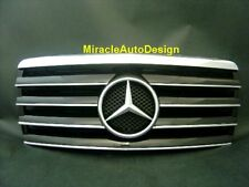 FRONT GRILLE (BLACK) FOR 1993-1995 MERCEDES BENZ W124 E-CLASS (STAR NOT INCLUDED