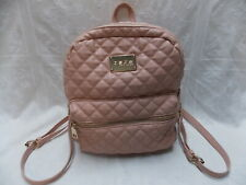 """bebe Blush Quilted Faux Leather Backpack Bag 12.5"""" x 11.5"""" x 5"""" Excellent"""