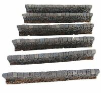 15mm Low Stone Wall 6pc Set No 1082