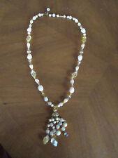 vint Deco Celluloid Bead Rs Necklace Pre-1950 ~