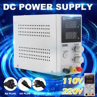 EU/US/AU Plug 30V 10A Switching Adjustable DC Bench Power Supply LCD Digital