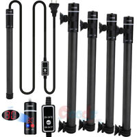 2x 100/300/500W LED Aquarium Submersible Water Heater Heating Rod Fish Tank 110V
