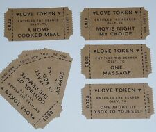 Customised Bag of 15 Love Tokens Vouchers / Date Ideas - Valentines Wedding Gift