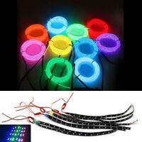 1m/2m/4m/5m LED EL Wire Neon Glow Light DC 3V/12V Controller Car Decor Tape