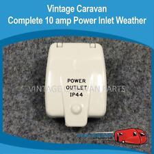"Caravan CLIPSAL IP 44  POWER OUTLET "" 10 amp ""  Vintage Viscount Millard E0157"
