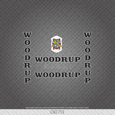 0673 Woodrup Bicycle Stickers - Decals - Transfers - Black Text With White Key