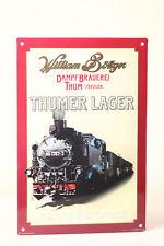 Targa di latta BIRRIFICIO VAPORE THUM con immagine BR 99 Locomotiva a William