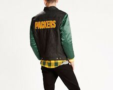 Levi's GREEN BAY PACKERS NFL Denim Varsity Trucker Button-Up Jacket-Size XL NEW