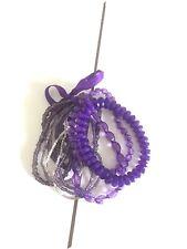 Opia At Primark Purple Beads Bracelets Set