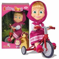Masha 12cm Russian Doll Masha and the Bear - Masha Tricycle Fun