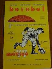COMITE OLIMPICO MEXICANO-BEISBOL -POSTER  1er. Campeonato Mundial Infantil-