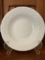 Gibson Everyday Soup/cereal Bowls (6) White Basketweave Used Great Condition