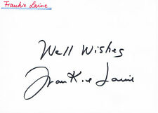 "Frankie Laine 1913-2007 genuine autograph signed 4""x6"" card US singer actor"