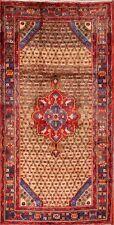 VINTAGE Geometric Koliaei 5x10 Hand-Knotted WOOL Rug Oriental Carpet