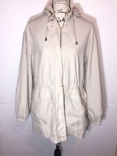 Aeros by Kristen Blake Zip Hooded Jacket Size M Ivory Water-Resistant