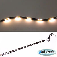 LED Leiste Stripe 12V WARM WEISS 30cm 15x5050 SMD PKW Innenraum Beleuchtung