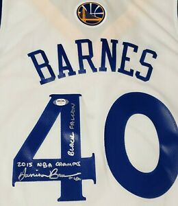 Golden State Warriors Autographed Harrison Barnes Jersey W/inscriptions