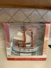 Lemax Plymouth Corner Golden Eagle Schooner Boat Sailboat Lighted Rare In Box