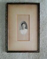 "Antique 1913 Arts & Crafts Mission OAK Picture Frame Orig Glass Fits 5 3/4 x 9"""