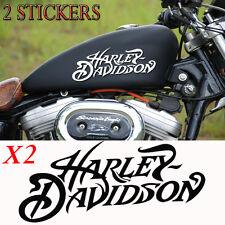 2 stickers autocollant harley-davidson sportster skull iron pour réservoir moto.