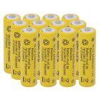 12 Pack AA Rechargeable Battery Ni-Cd 600mAh 1.2V Solar Light Batteries