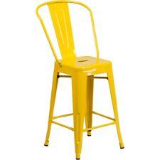 Flash Furniture 24'' High Yellow Metal Indoor-Outdoor Counter Height Stool