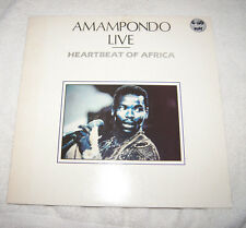 LP : Amampondo Live - Heartbeat of Africa (1988) Made in UK