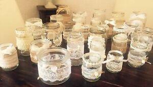 Vintage Hochzeit Deko Set 15 Teilig Shabby Vasen Teelichthalter Jute Spitze