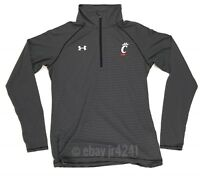 New Under Armour Women's S Cincinnati Bearcats Microstripe 1/4 Zip Black 1276211