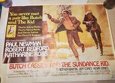 Rare 1969 Original Butch Cassidy And The Sundance Kid Horizontal Movie Poster!