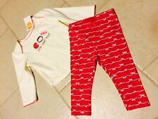 NWT Gymboree Pink Penguin Baby Girls 12-18 M Outfit Set Holiday 2 Piece