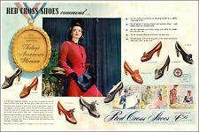 1942 WW2 era AD RED CROSS Women's Shoes $6.95 many styles Buy Bonds! 020721