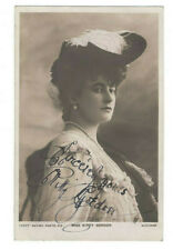 Kitty Gordon Signed Postcard Photo Early 1900s / Stage Actress Autographed