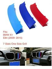M POWER SPORT LOGO KIDNEY GRILL 3 COLOUR COVER ABS 3 STRIPS BMW X1 SERIES E84