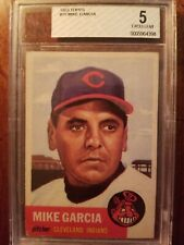 1953 Topps #75 Mike Garcia Card Cleveland Indians