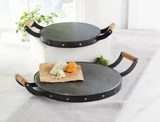 Mud Pie E8 Bistro Home Decor Kitchen Dining Studded Tin Metal Tray Large 16x2